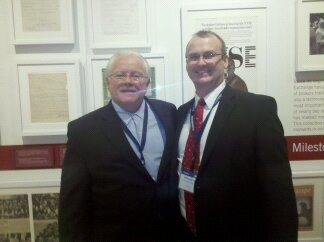 Jeff Street with legendary investor Tom Dorsey at NYSE (New York Stock Exchange) fo Dorsey Wright.